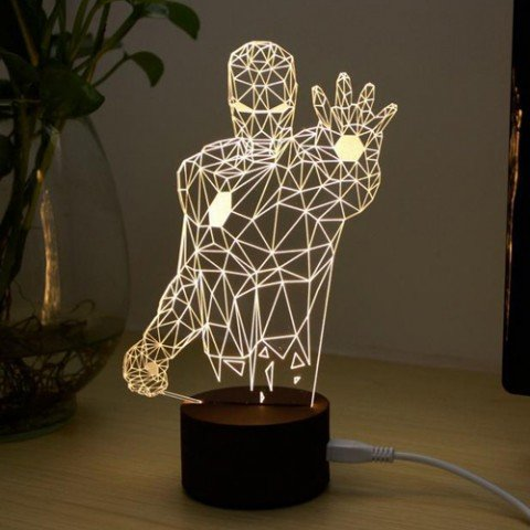 3D Iron Man LED Night Lamp