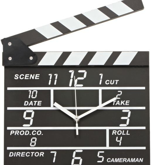 Movie Clapper Wall Clock